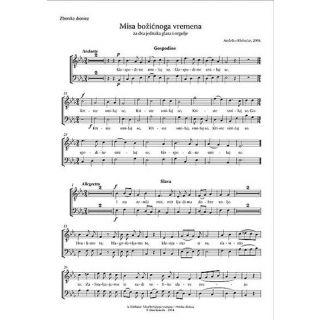 Misa božićnoga vremena (zborske dionice)